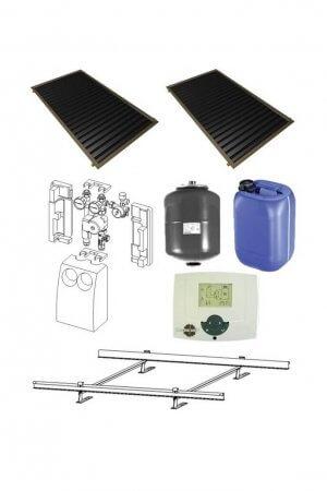 2 saules kolektoru sistēma