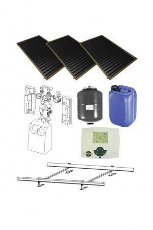 3 saules kolektoru sistēma