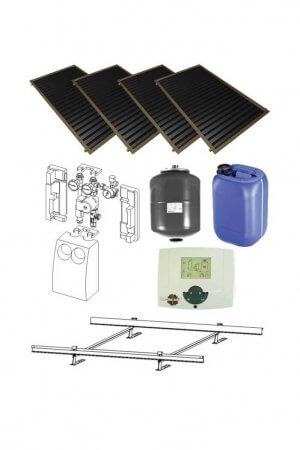 4 saules kolektoru sistēma